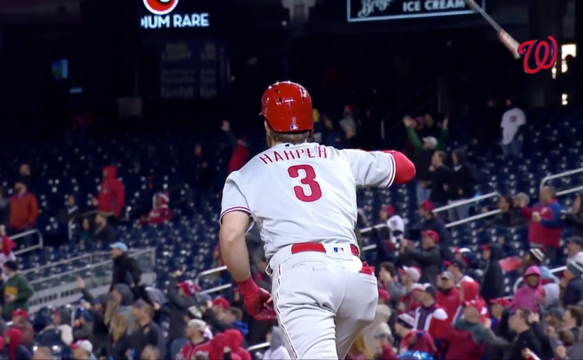 Bryce Harper must be a reader of The Bat Flip